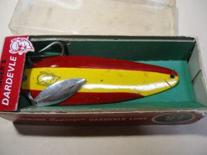 Old EPPINGER's DARDEVLE SPOON LURE