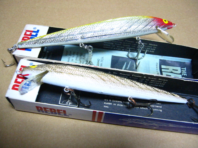 Old REBEL FLOATING MINNOW LURES