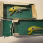 Old HEDDON TIGER LURES in BIG BUD BOX