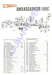 Garcia AMBASSADEUR 5000C 72to73